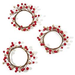holiday candle rings berry