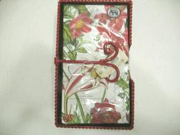 """Holiday"" Christmas Tin Napkin Holder & 2 sets Hostess Napki"