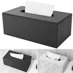 Luxspire Home Car PU Leather Rectangular Paper Tissue Box Co