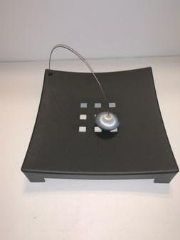 IKEA KNYCK Square Napkin Holder Black/Silver Metal Ball Tabl