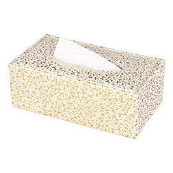 KINGFOM Imitation Suede Leather Rectangle Tissue Box Dispens