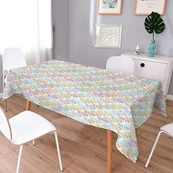 Anmaseven Indie Square Printed Tablecloth Colorful Pattern w