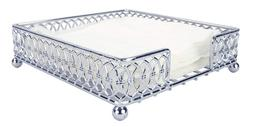 Home Basics Infinity Collection Flat Napkin Holder, Silver C