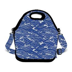 Insulated Lunch Bag Cooler Tote Bag Easy Pull Zippers, Detac