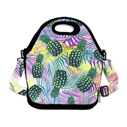 Insulated Lunch Bag Lunch Box for Adults Men Women, Cute Rai