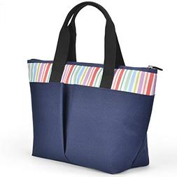 LEADO Insulated Large Lunch Tote Bag for Women Girls Adults,