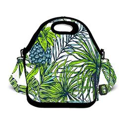 BOYO ME Fashion Insulated Palm Leaves Funny Pineapple Lunch