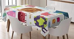 CHARMHOME Kitchen Cotton Linen Tablecloth, Dining Room Kitch