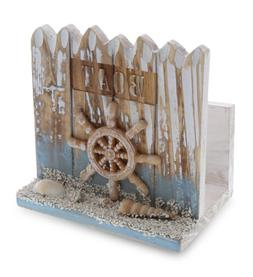CoTa Global Coastal Horizon Nautical Wooden Napkin Holder Be