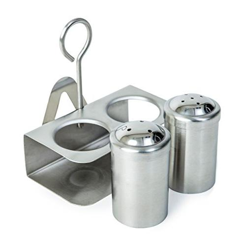 3-in-1 Salt Stand Holder | Pepper Dispenser Stand | Shaker set
