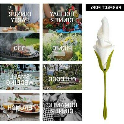 12X Table Twist Flower Buds Serviette Holder Table Hot
