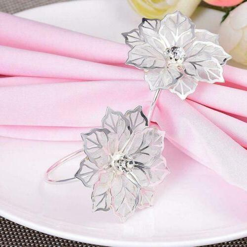 12 Rings Holder Towel Party Table Decor