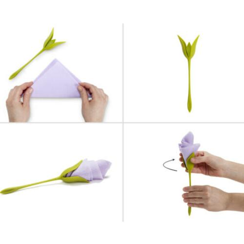 8/12/40Pcs Bloom for Table Twist Flower Serviette Decor
