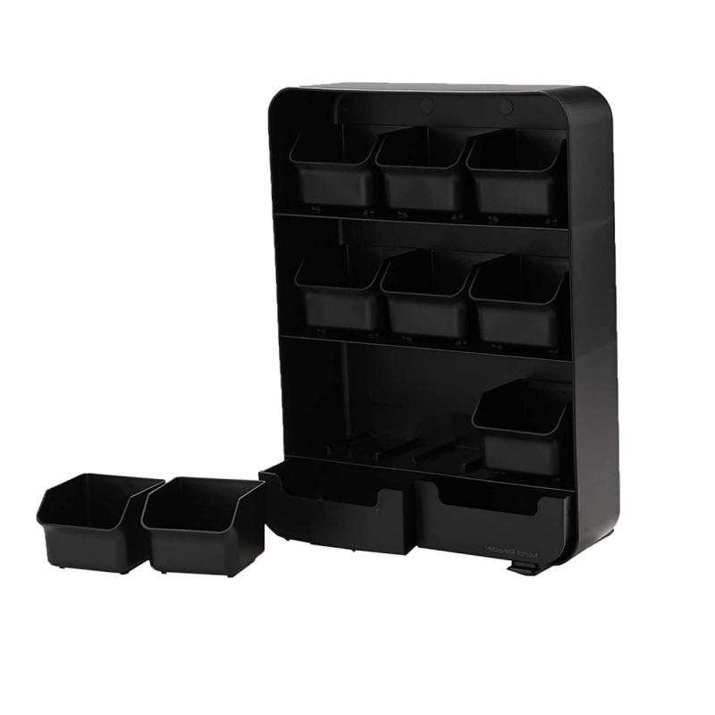 Mind Reader 9 Drawers and Condiment Black