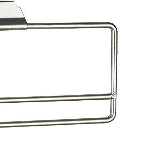 """Home Basics Satin Nickel Over The Paper Holder, 12.37"""" x 1.25"""" x 4.60"""""""