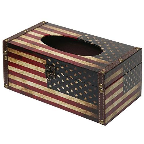 MyGift Patriotic American Flag Refillable Holder Cover