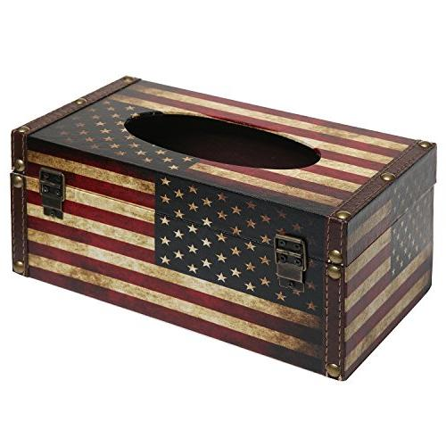 MyGift Vintage Patriotic Refillable Box Cover