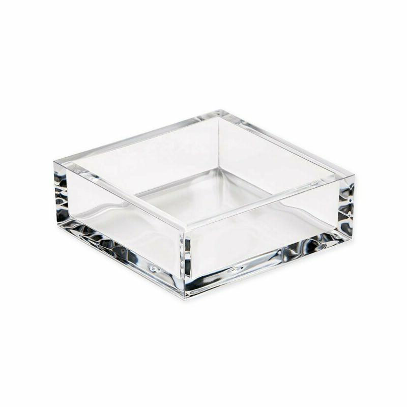 Caspari Acrylic Cocktail Paper Napkin Holder in Clear, 1 Eac