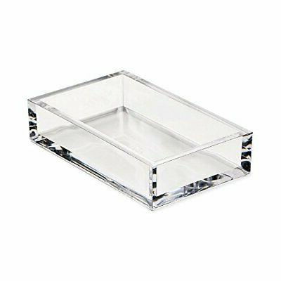 acrylic guest towel paper napkin holder clear