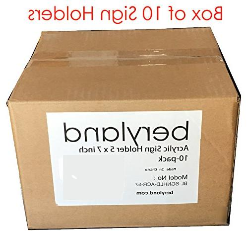 Beryland Acrylic Sign Holder - 10-Pack of Sign