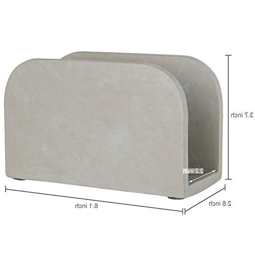 MyGift Arched Cement-Gray Holder