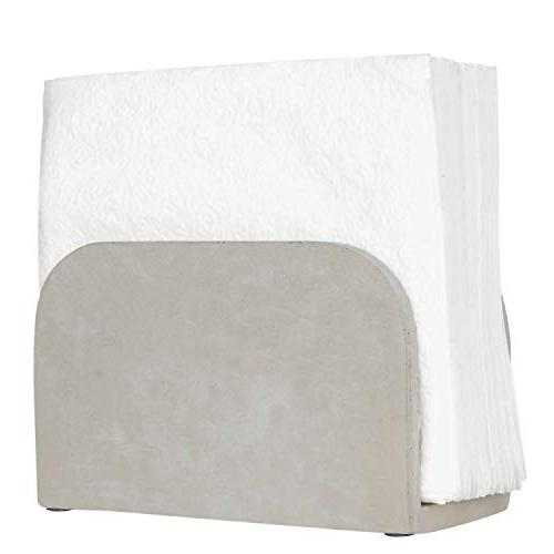 arched cement gray napkin holder