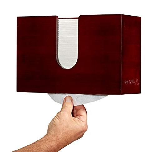 """AdirHome Bamboo Dispenser 4.8"""" 11.6"""" x 7.8"""" Mount or Multifold Commercial"""
