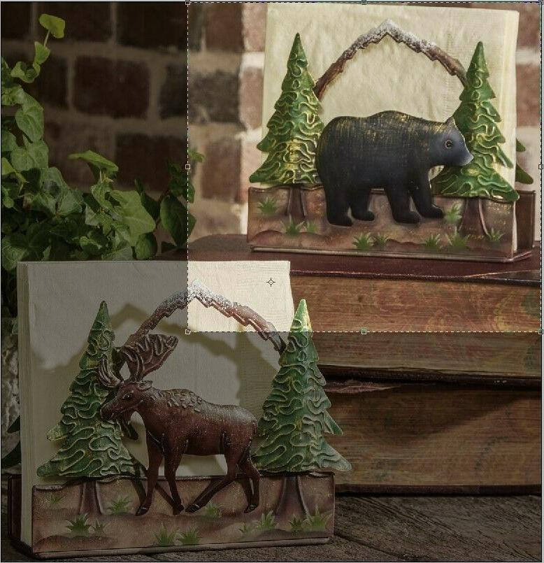 Bear Luncheon Napkin Holder, Park Designs...New, Free Shippi