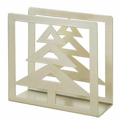 MyGift Brass-Tone Metal Holder with Cutout