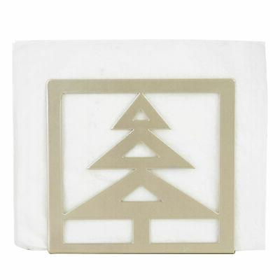 MyGift Brass-Tone Holder with Christmas Cutout