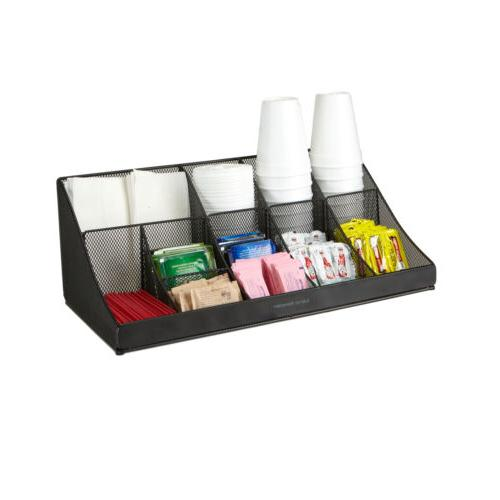 breakroom 11 compartment condiment holder