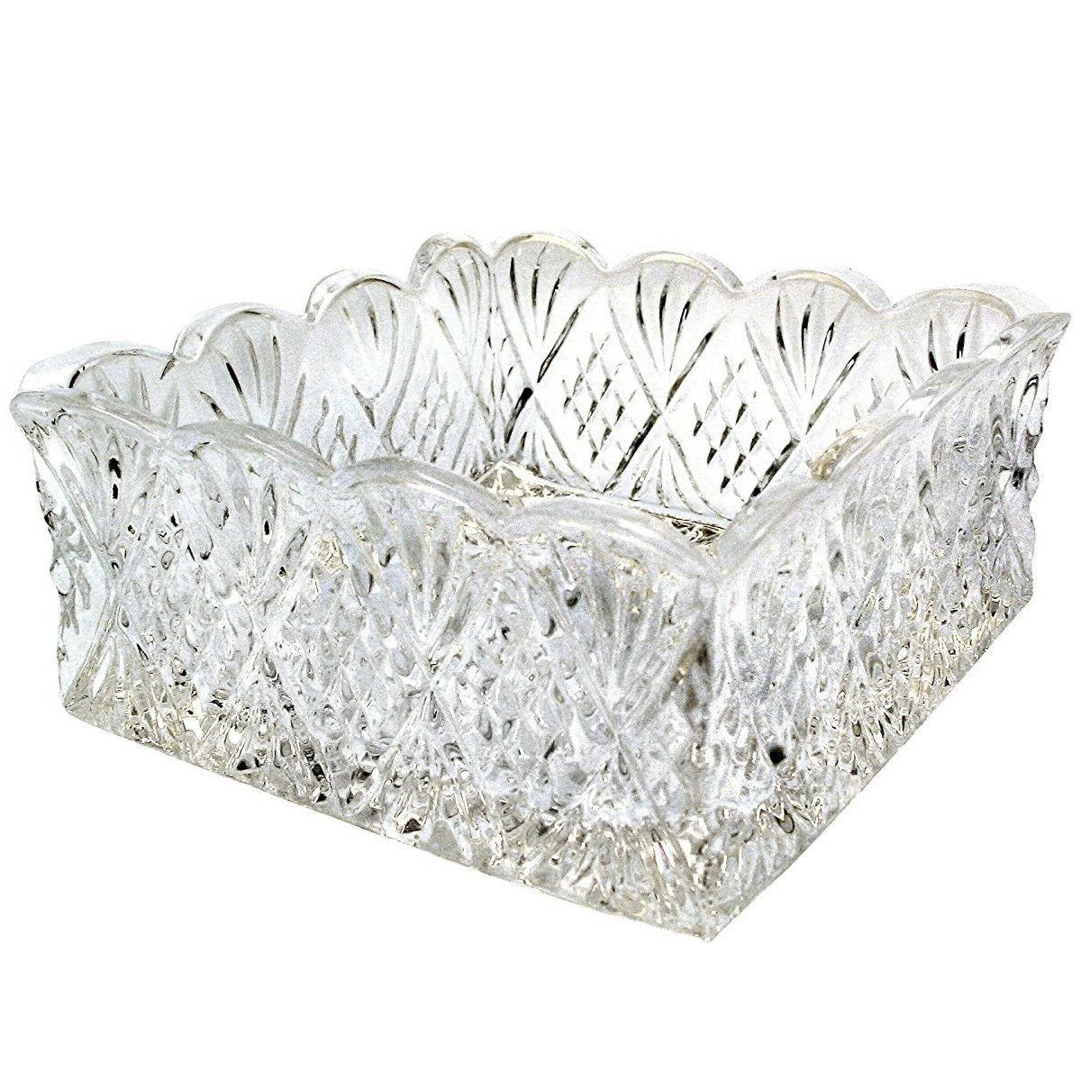 Square Clear Glass Napkin Holder Buffet Dinner Table Display