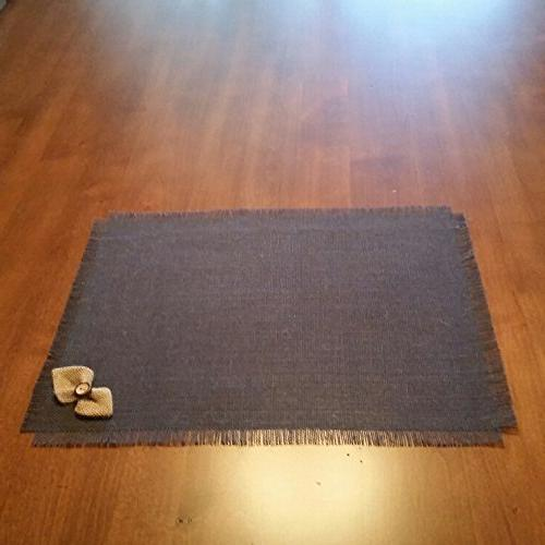 Burlap Navy Blue Chic Table Runners, Placemats, Silverware Holders, or Natural Bow-tie Accent