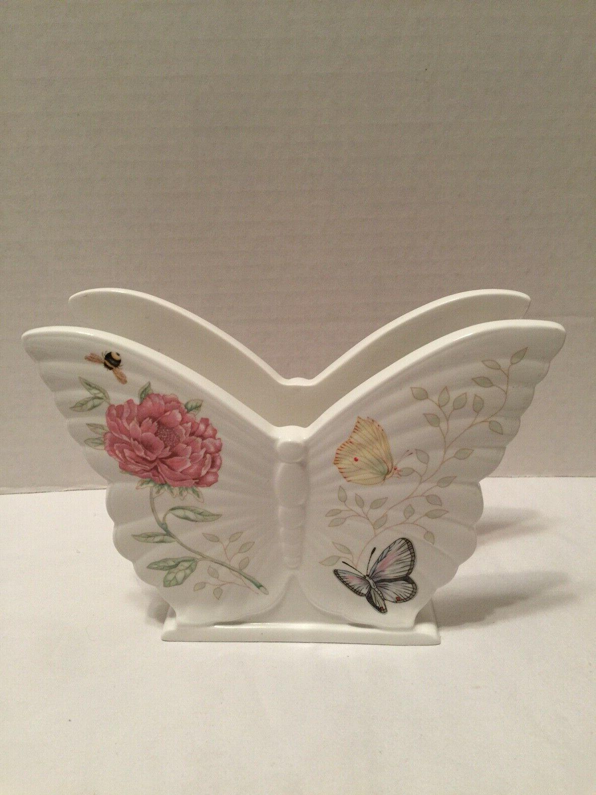 butterfly meadow porcelain napkin holder