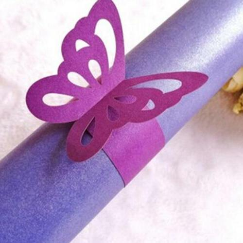 Butterfly Wrap Napkin Ring Serviette Holder Band