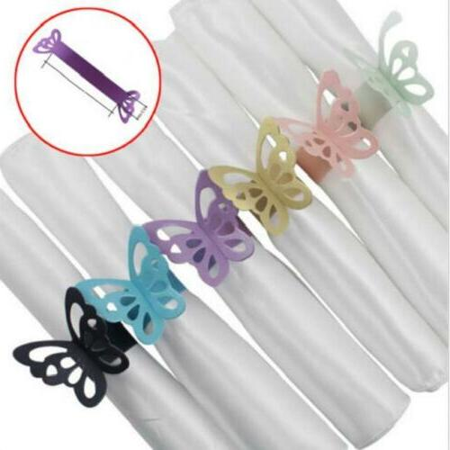 butterfly wrap napkin ring serviette holder colorful