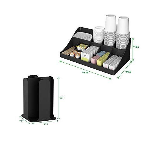 Mind and Lid and Breakroom Coffee Condiment Organizer, Compartment,
