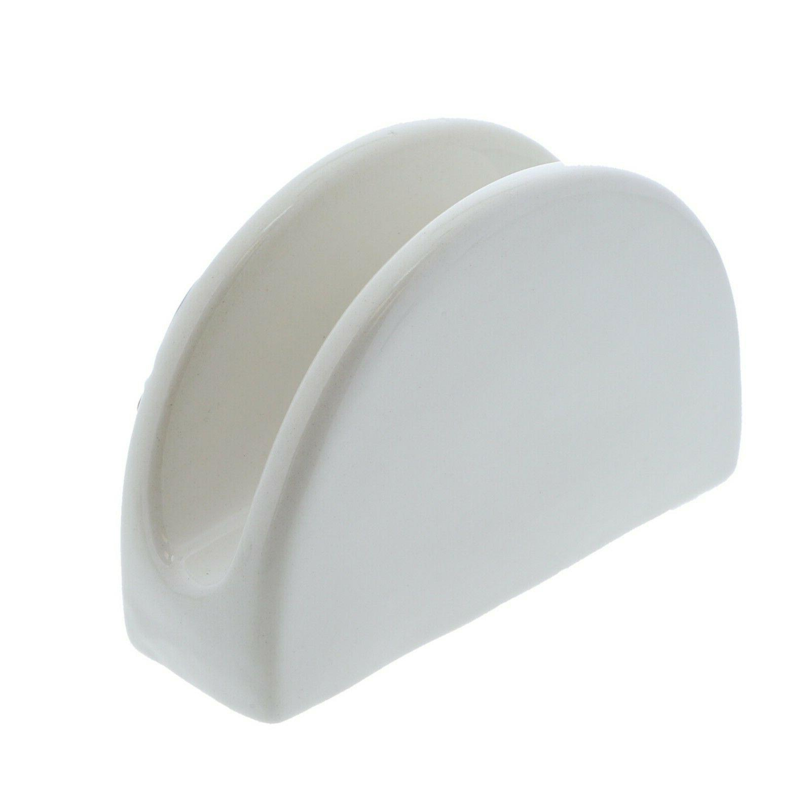 Ceramic Napkin White w/Lemon Napkin Stand Dispenser Kitchen