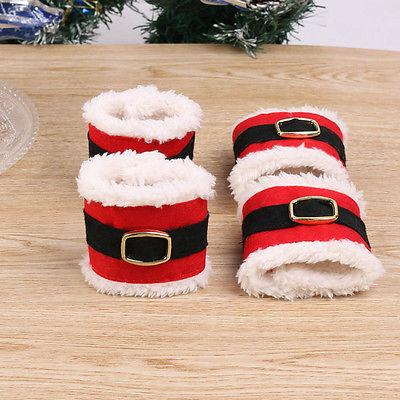 Christmas Napkin Rings Holder Banquet