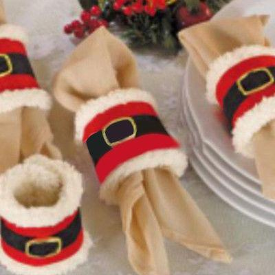 christmas napkin rings serviette holder wedding banquet