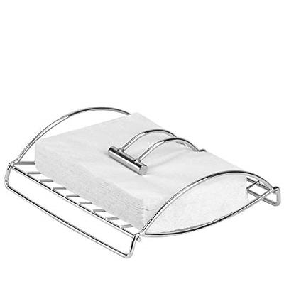chrome paper napkin holder with weighted metal