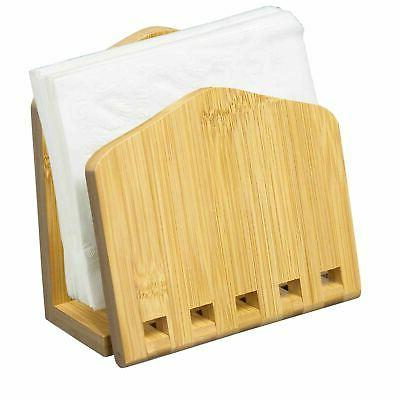 classic bamboo expandable napkin holder
