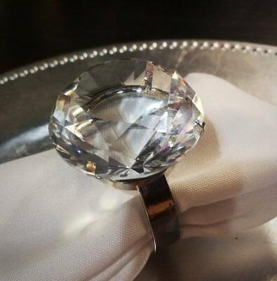 Crystal Diamond Ring Napkin Holder