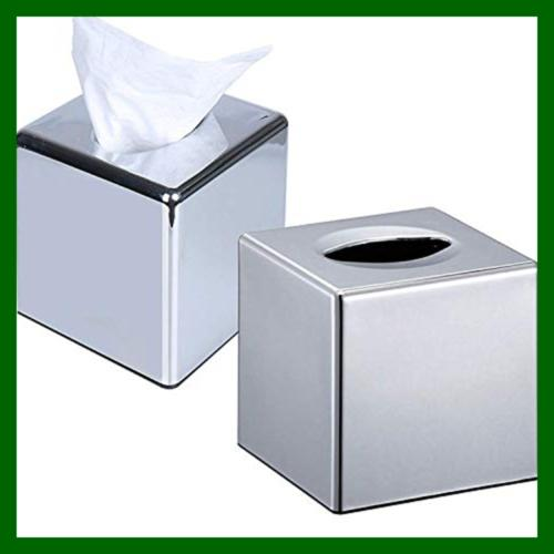 Cube Mirror Tissue Box Napkin Stainless