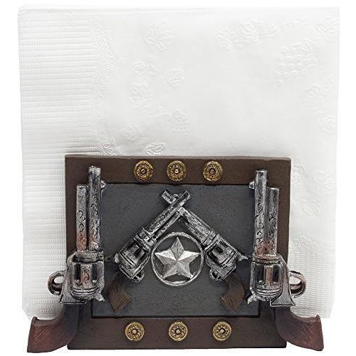 Decorative Country Holder with Shooter Pistols for West Countertop Room Table As Gifts for