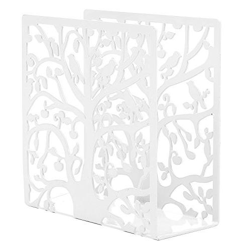 Decorative Whimsical Tree Bird Cutout Design Upright Napkin Holder