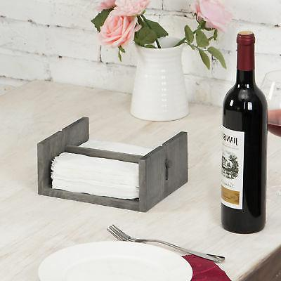 MyGift Distressed Gray Napkin Bar Weighted Arm