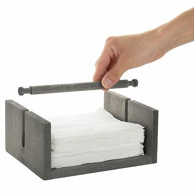 MyGift Distressed Napkin Bar Weighted