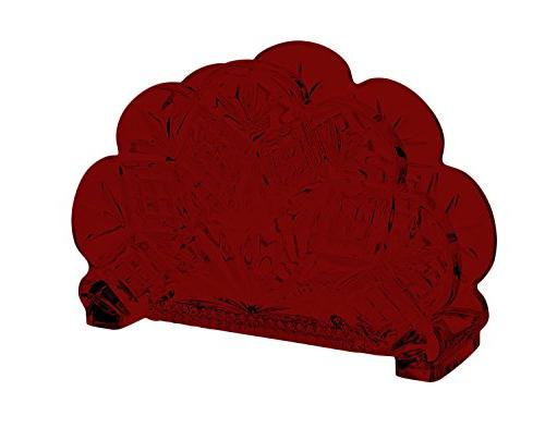dublin standing napkin holder red