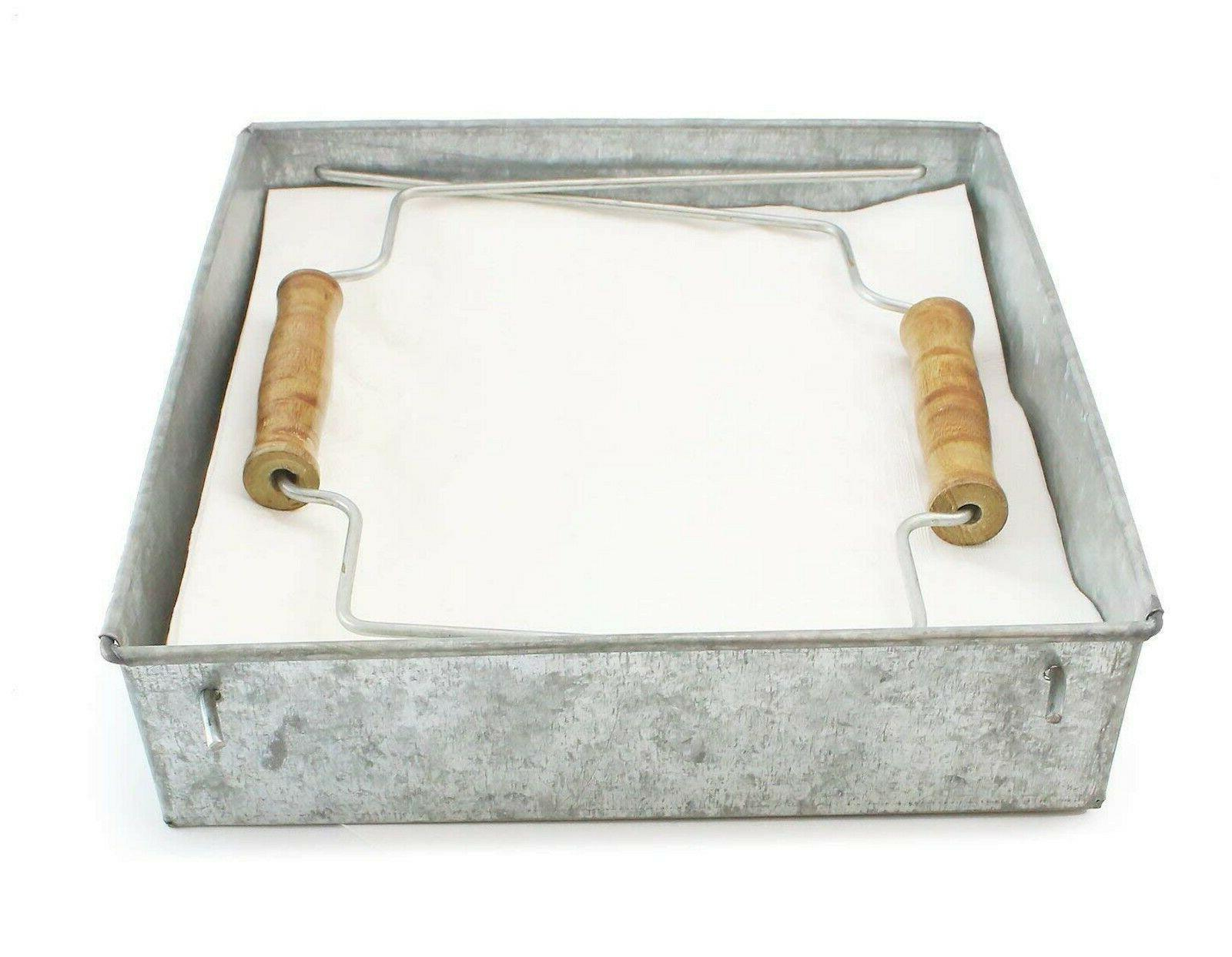 galvanized metal napkin holder kitchen accessory large